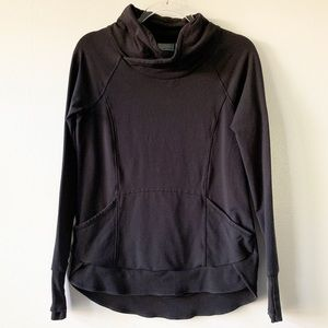 Athleta Black Funnel Neck Sweatshirt Size Small